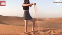Suudi Arabistan polisi, mini etek giyen kadını yakaladı