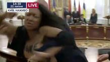 FEMEN kadınlarından 2 lidere protesto şoku