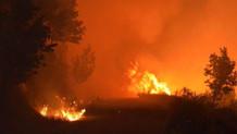 İzmir'de saatlerdir söndürülemeyen orman yangını