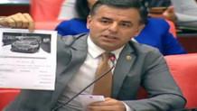 CHP'li vekil Kahraman'ın 5 milyonluk arabasının resmini gösterdi