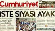 Cumhuriyet'in İşte siyasi ayak manşetine AKP'li Yazıcı'dan ağır cevap