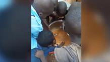 Ruanda'da yürekleri burkan görüntü!