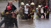 İstanbul'da dereler taştı vatandaşlar zor kurtarıldı!