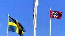 Hitler'in doğum gününde İsveç'te Nazi bayrakları dalgalandı