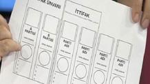 İşte 24 Haziran'da kullanılacak oy pusulası