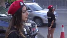 Lübnan'da kadın polislerin mini eteği olay oldu