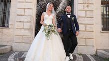 Nihat Kahveci ile Fulya Sever Roma'da dünya evine girdi