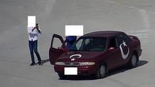 Çorum'da kiki challenge yapan sürücüye ceza