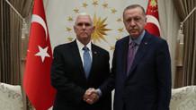 Cumhurbaşkanı Erdoğan Pence görüşmesi sona erdi