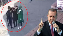 Erdoğan başörtülü kadınlara saldıranlara tepki gösterdi: Asla göz yummayız