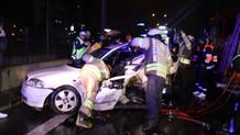 11 araç birbirine girdi: 1 ölü, 4 yaralı