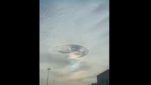 Gökyüzünde esrarengiz görüntü! Sosyal medya ikiye bölündü