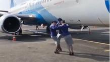 Sosyal medyada yeni akım: Üçgen dansı Rusya'ya da sıçradı