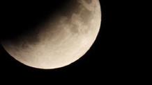 Parçalı ay tutulması teleskopla böyle gözlendi