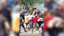 Trabzon'da Kürdistan bayrağıyla fotoğraf çektiren turistlere saldırı