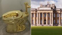Blenheim Sarayın'a 6.5 milyon liralık altın tuvalet koydular