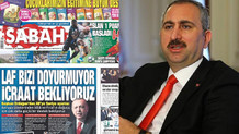 Damatın Sabah gazetesi Adalet Bakanı Gül'ün o sözlerini görmedi