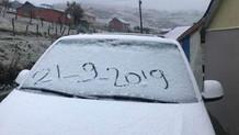 Karadeniz'e kar yağdı