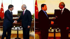 Fotoğrafta Davutoğlu'nun yerine kendini koydu!