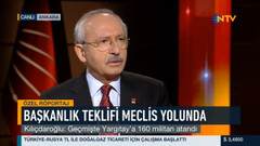 Kılıçdaroğlu NTV ekranında NTV özgür değil dedi
