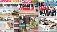 Türk basını Fırat Kalkanı operasyonunu nasıl gördü?
