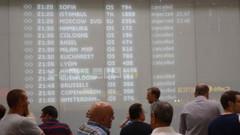 Viyana havalimanında teknik arıza kaosu!