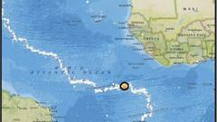 Atlantik Okyanusu'nda 7.4 büyüklüğünde deprem meydana geldi