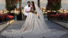 Selma Çilek ile Sinan Çiftçi'nin düğününe ünlü akını