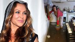 Hülya Avşar'ın teyzesinin evi sular altında!