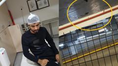 Mall Of İstanbul otoparkında başına çivi saplandı