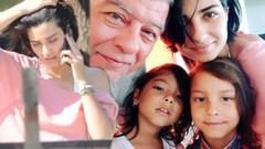 Tuba Büyüküstün babası ve kızlarıyla tatilde
