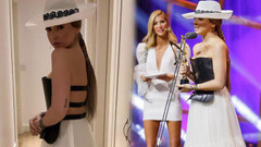 Hadise'nin kıyafeti olay oldu: Göğüsler fırlamış