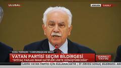 Doğu Perinçek seçim bildirgesini açıkladı: HDP'yi kapatacağız, NATO'dan çıkacağız