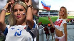 Yüksek topuklu Rus güzeller Dünya Kupasında zengin erkek avında