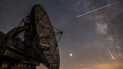 Kuzey Yarım Küre'de yaşanan meteor yağmuru büyüledi