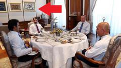 Erdoğan ve Katar Emiri görüşmesinde duvardaki dikkat çeken ayrıntı