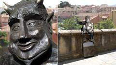 İspanya'da fazla sevimli görünen şeytan heykeline tepki