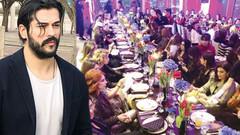 Burak Özçivit'in 80 zengin kadınla özel yemeğinden flaş görüntüler