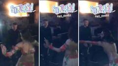 Dzeko'nun doğum günü partisinde dansöz ile imtihanı!