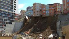 İstanbul Kağıthane'de 4 katlı bir bina çöktü!