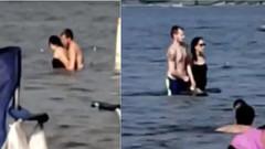 Gölde cinsel ilişkiye giren kadın ve erkeği polis ayırdı