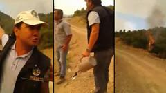 Ormanı Bakanlık görevlisi mi yaktı? Olay yaratan görüntüler