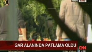 Ankara Garı yanında şüpheli çanta patlatıldı