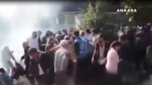 Ankara'daki patlamada polis biber gazı sıkmış