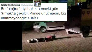 Demirtaş'ın paylaştığı şok fotoğraf