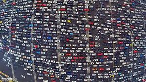 Böyle trafik görülmedi!