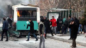 Kayseri Erciyes Üniversitesi önünde büyük patlama