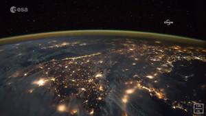 Astronotun uzaydan Türkiye görüntüleri