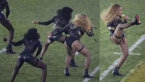 Beyonce ve kara panterleri Superbowl gecesine damga vurdu