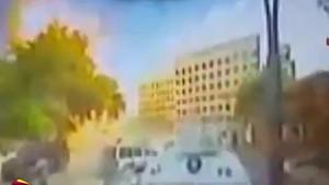 Gaziantep'teki bombalı aracın patlama anı
